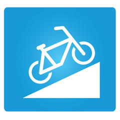 Beware of Steep Way, bicycle up way symbol