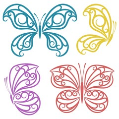 Abstract butterflies.