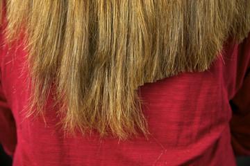 Half hair being cut