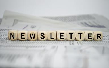 Würfel mit Newsletter