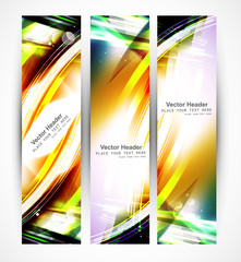 Abstract header colorful stylish wave whit vector design