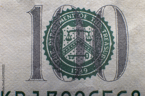 inscription on one hundred dollar