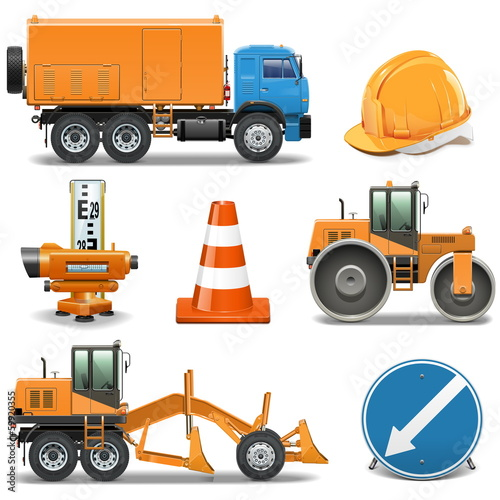 Vector Road Construction Icons