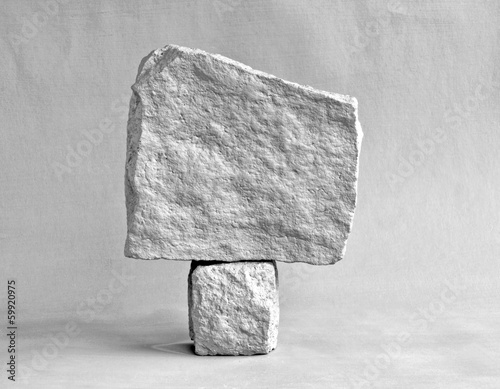 canvas print picture mono rock