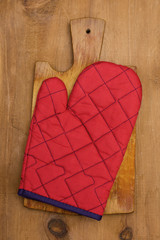 potholder on a wooden background