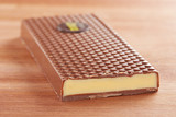 Milk chocolate bar with lemon cream