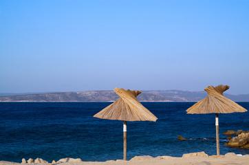 Morgenstimmung am azurblauen Meer