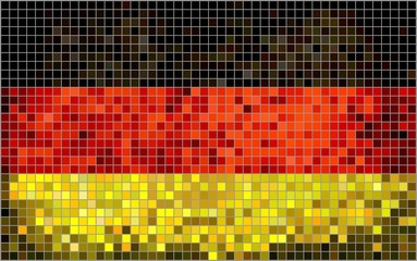 Abstract Mosaic flag of Germany (Deutschland)