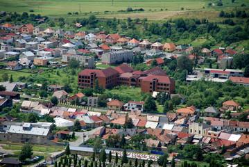Colorful town of Spišské Podhradie, Slovakia