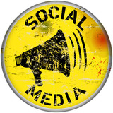 social media sign, vector illustration