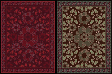 Carpet Design - two color variations