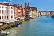 Grand Canal in Venice in a summer sunny day