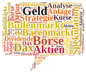 Börse word cloud