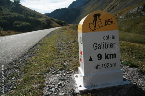 Poster Fietsen Col du Galibier