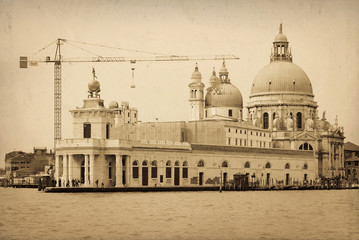 vintage image of old buildings