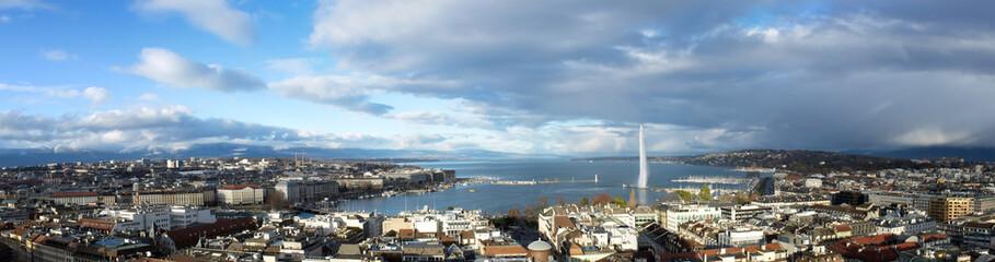 Geneva city panorama, Switzerland
