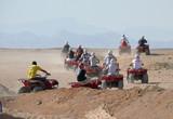 HURGHADA, EGYPT - 13 OCTOBER 2008: Safari raid for tourists. poster