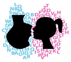 illustrazione simbolica di discussione tra coppia