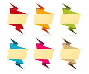 The blank origami label set