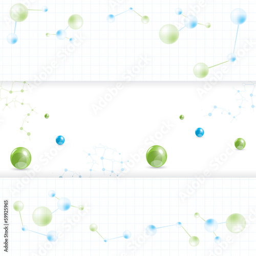 Abstract molecule banner set