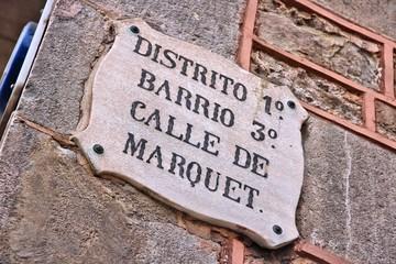 Barcelona street sign