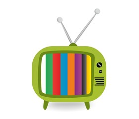 Retro green TV