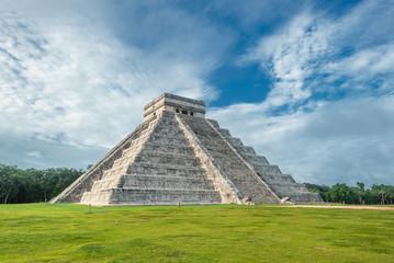 El Castillo or Temple of Kukulkan pyramid, Chichen Itza, Yucatan