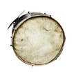 The old, worldly-wise, dusty bass drum - 59927389