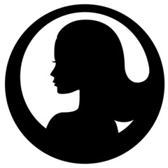 Woman face silhouette icon