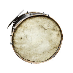 The old, worldly-wise, dusty bass drum