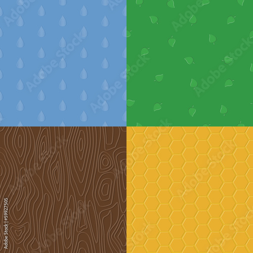 Vector natural embossed seamless patterns