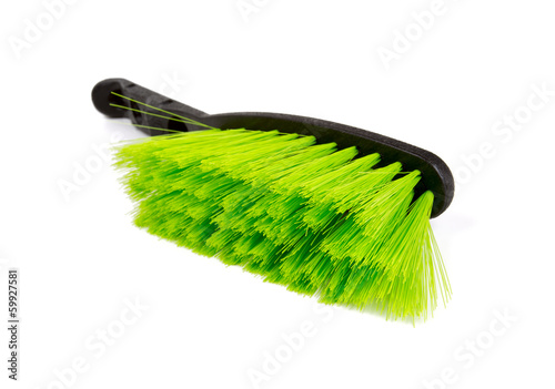 green new cleaning brush