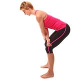 Dehnung der Rückenmuskulatur (Trapezius & Latissimus dorsi) poster