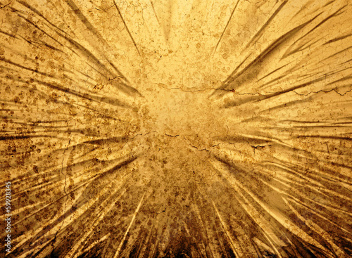 Cracked gold grunge background