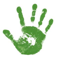 Grüner Handabdruck