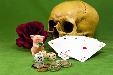 Spielsucht kann tödlich enden - Stilleben
