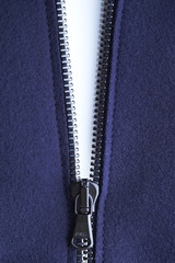 White isolated zipper