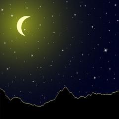 горы и луна