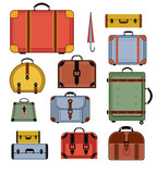 Retro travel bags