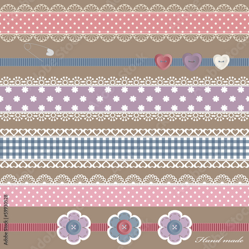 Scrapbook design elements set.