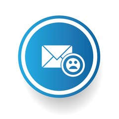 Sad email symbol,vector