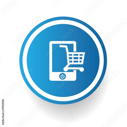 Shopping on mobile phone,vector