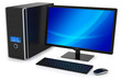 Modern multimedia desktop PC.