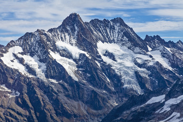 Snow mountain tops. Alps. Switzerland.