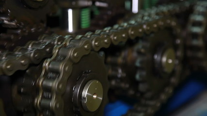 Chain mechanism close up.