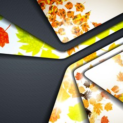 multi layered abstract background with the theme of autumn