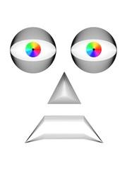 Espressioni viso personaggio elettronico