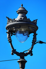 beautiful old street lamp
