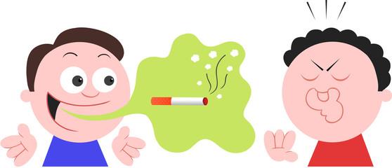 Smoker Man With Bad Breath Halitosis