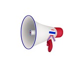 A Loudspeaker or Megaphone on White Background